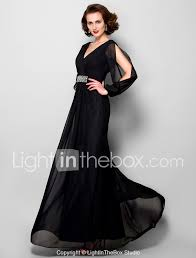 Light In The Box Mother Of The Bride Dresses A Line V Neck Floor Length Chiffon Mother Of The Bride Dress