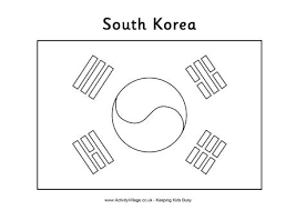 Small Picture South Korea Flag Colouring Page