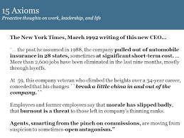 15 axioms proactive thoughts on work leadership and life the new york times