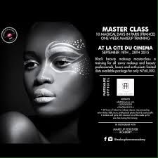 attend black makeup mastercl in paris this summer