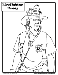 Coloring: Firefighter Coloring Page