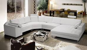living room modern leather sectional couches pure white leather