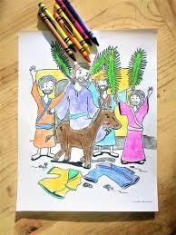 Palm Sunday Coloring Coloring Page Childrens Ministry Deals