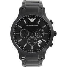 mens armani watches from ticwatches co uk emporio now on ar2453 gents black stainless steel watch