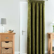 french doors with curtains. Curtains As Doors Chenille Forest Green Thermal Pencil Pleat Door Curtain For French Uk With