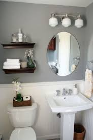 half bathroom ideas gray. Brilliant Gray Itu0027s Just Paper At Home Powder Room Renovation Inside Half Bathroom Ideas Gray M