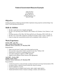 ... Sample For Ingenious Idea Federal Government Resume 14 Federal Employee  Example ...