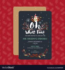 Christmas Inviations Oh What Fun Christmas Party Invitation Card