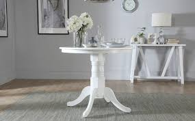 kingston round white dining table with 4 bewley oatmeal chairs only 349 99 furniture choice
