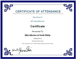 Free Perfect Attendance Certificate Templates Award Template