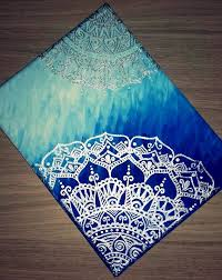One of my first canvas paintings. Mandala Canvas Painting.