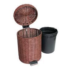 small wicker wastebasket with lid.  Wastebasket Bathroom Wastebasket With Lid Waste Basket Furniture Wicker  For Small Wayfaircom