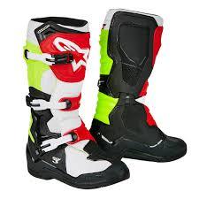 Alpinestar Tech 3 Size Chart Alpinestars Mx Boots Tech 3 Black White Yellow Fluo