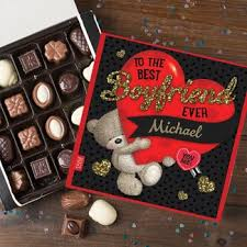 High Quality Personalised Hugs Best Boyfriend Belgian Chocolates