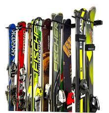 omni ski rack holds up to 10 pairs of skis home u0026 garage wall garage wall hangers m16