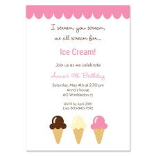 ice cream social invitation wording