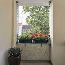 Allegra Katzennetz Für Balkon Fenster Katzenschutznetz Mit Halterung