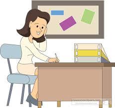 teacher desk clipart. Brilliant Teacher Teachersittingatdeskgradingpapersjpg For Teacher Desk Clipart R
