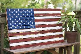 wooden american flag wall hanging 12