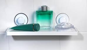 beldray la046536 plastic suction bathroom shelf white thumbnail 9 previous next