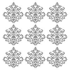damask vintage wall decals initial large medallion wall decals fairy decals monogram wall decals