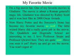 essay on favorite movie  essay on favorite movie
