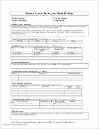 Status Report Format Weekly Project Status Report Template New Project Status Report