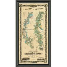 Lower Mississippi River Charts Chart Of The Lower Mississippi River 1858 Framed Print East