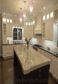 polished sea pearl quartzite kitchen countertop white quartzite kitchen island top