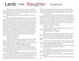lamb slaughter to the by roald dahl ppt video online  lamb slaughter to the by roald dahl