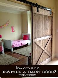 diy sliding barn door simplykierste
