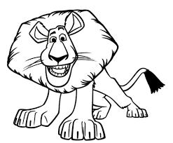 Disegno Di Alex Il Leone Di Madagascar Da Colorare