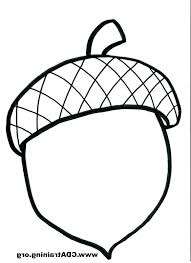 Coloring Acorns Leaves And Acorns Coloring Page Craft Ideas