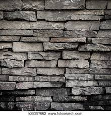 old black brick wall background and