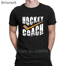 Sand Volleyball T Shirt Designs Us 13 2 17 Off Hockey Coach Stick White Text T Shirt Tops Designs Summer Original Newest T Shirt For Men Unisex Round Collar Hilarious In T Shirts