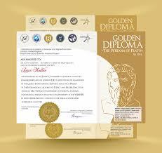 Сертификаты и Дипломы Золотой Диплом Мудрость Платона