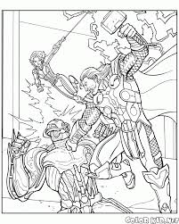 Small Picture Avengers Battle Coloring Page Free Coloring Pages 26 Sep 17 15