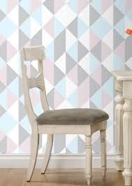 Geometric Wall ART Removable Wall Sticker Fabric Self Adhesive Removable Wall Adhesive