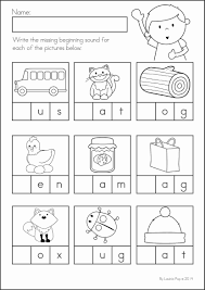 Available worksheets beginning sounds set 1 beginning sounds set 2 middle sounds ending sounds crossword sounds matching sounds rhyme. Back To School Math Literacy Worksheets And Activities No Prep Kindergarten Phonics Worksheets Phonics Kindergarten Free Kindergarten Worksheets