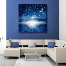 2018 led canvas moon lighted wall art decoration canvas painting solid wood wall paintings bedroom living room decor from happyfamilyalike 42 7 dhgate