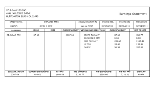 Pay Stub Templates Excel Pay Stub Template Word Document Template Business