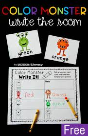 Blue, orange, brown, red, black, silver, gold, gray, green, violet, yellow, white. Color Words Write The Room Printable Literacy Center