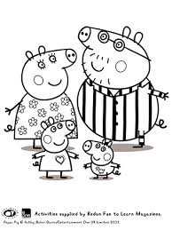 pictures to print and colour for kids.  Kids Peppa And Family 3  More Print Colour For Pictures To And Kids