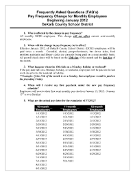 If You Get Paid Semi Monthly Dekalb County School District Semi Monthly Pay Check Fill