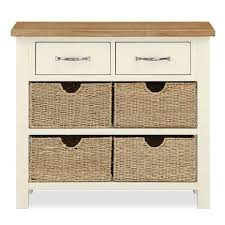 cream console table. Sidmouth Cream Console Table With Baskets