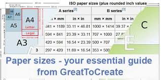 Paper Sizes Your Essential Guide From Greattocreate