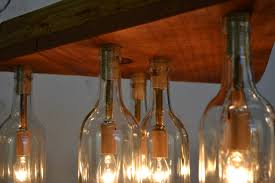 rustic adala barn wood and wine bottle chandelier