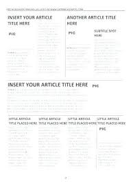 Magazine Article Format Template Online Magazine Article Template Format Magazine Article