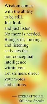 Wisdom Quotes Stillness Speaks Eckhart Tolle OMG Quotes Your Amazing Stillness Quotes