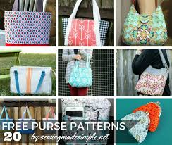 Handbag Patterns Extraordinary 48 Free Purse Patterns For Any OccasionSewing Made Simple